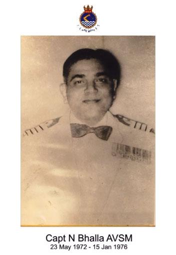 Capt N bhalla AVSM