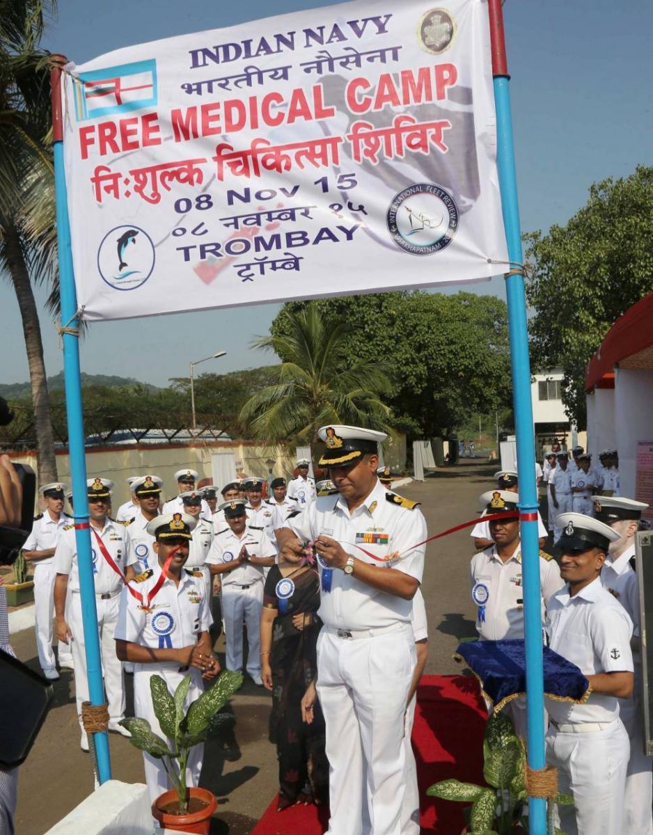 Free Medical Camp at NAD jetty, Trombay | Indian Navy