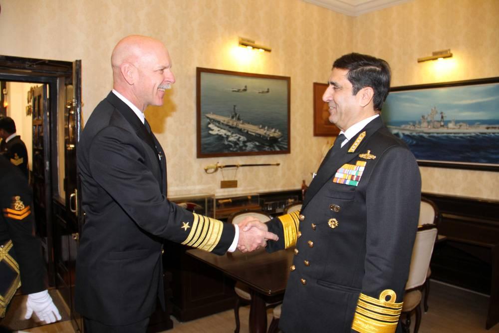 Admiral Scott Swift, Commander US Pacific Fleet visits India