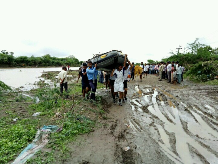 Search and Rescue Efforts by INS Valsura in Flood Affected Areas around Jamnagar