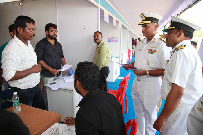 Tri-Services Ex- Servicemen Job Fair at Naval Base, Kochi