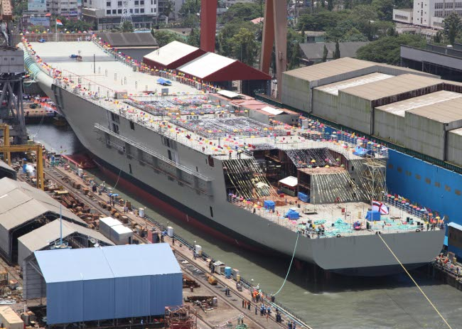 'Vikrant'- Navy's First Indigenous Aircraft Carrier Launched