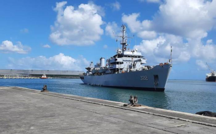 INS Sarvekshak in Mauritius