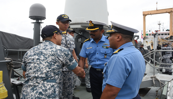 Republic of Singapore Navy Ships  Visit Port Blair