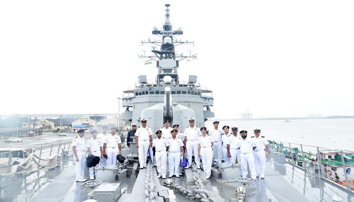 Japanese Maritime Self Defence Ship Visits Kochi