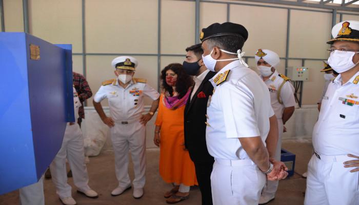 प्लास्टिक कचरा प्र्रबंधन  सुविधा का नौसेना बेस, कोच्चि में उद्घाटन