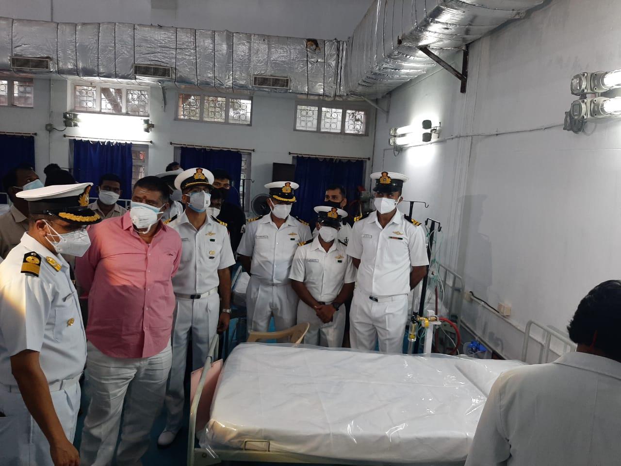 Indian Navy Sets Up COVID Care Centre at Bheemunipatnam