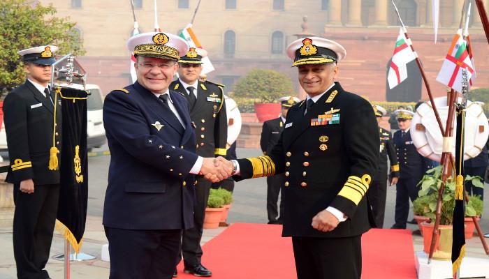06 से 09 जनवरी 2019 तक एडमिरल क्रिस्टोफ प्राजुक, नौसेनाध्यक्ष, फ्रांसीसी नौसेना का भारत दौरा