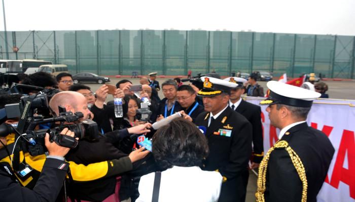 Indian NavalShips Kolkata and Shakti are atQingdao, China to Participate in IFR to Mark 70thAnniversary of PLA(Navy)