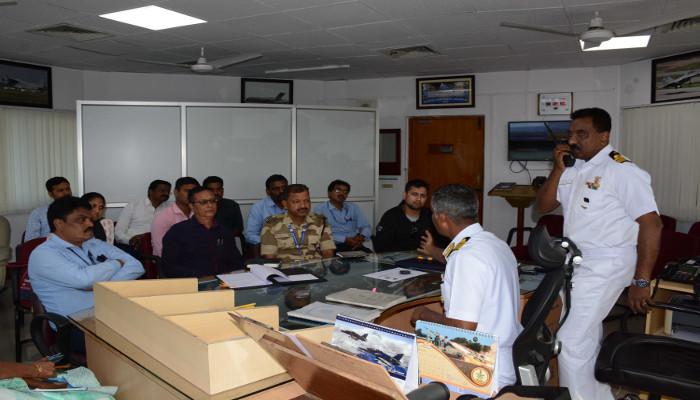 भा नौ पो देगा द्वारा विशाखापत्तनम हवाई अड्डे पर मॉक एंटी हाईजैक अभ्यास का आयोजन