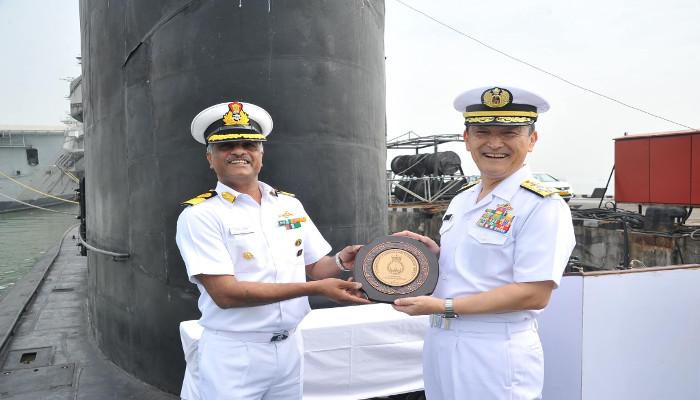 Visit of Admiral Hiroshi Yamamura Chief of Staff JMSDF to Headquarters Western Naval Command, Mumbai