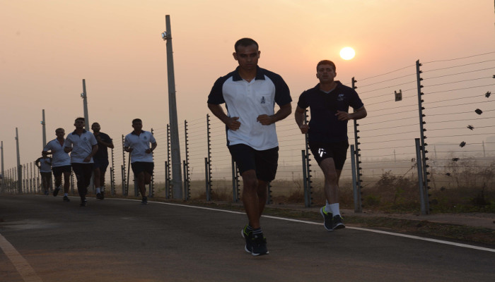 Mini Marathon Organised as part of Bharat Parv Celebrations