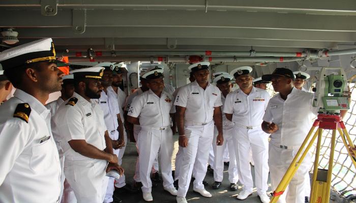 जमुना द्वारा श्रीलंका के तट पर संयुक्त हाइड्रोग्राफिक कार्यों की शुरुआत