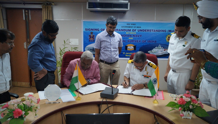 Indian Navy Signs MoU for Offshore Data with Geological Survey of India