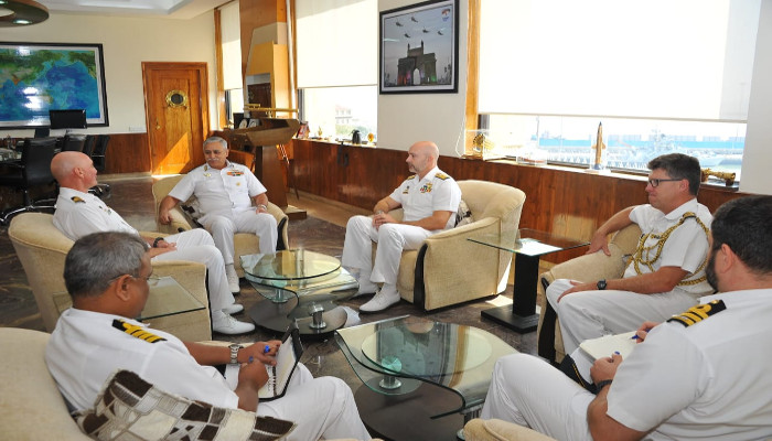 Royal Australian Navy Ship HMAS Toowoomba at Mumbai