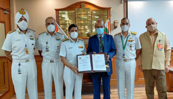 प्रौद्योगिकी ऊष्मायन फोरम (टीआईएफ) के लिए भारतीय नौसेना और मेसर्स बीईएल के बीच एमओयू
