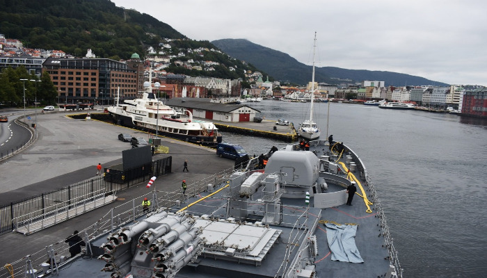 INS Tarkash at Bergen, Norway