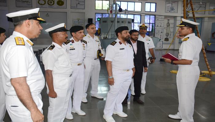 Staff Major General (Navy) Abdulla Bin Hassan Al-Sulaiti Commander Qatar Emiri Naval Forces Visits INA, Ezhimala