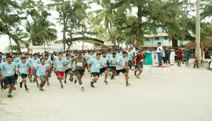 Inaugural Lakshadweep Navy Mini Marathon Conducted at Kavaratti