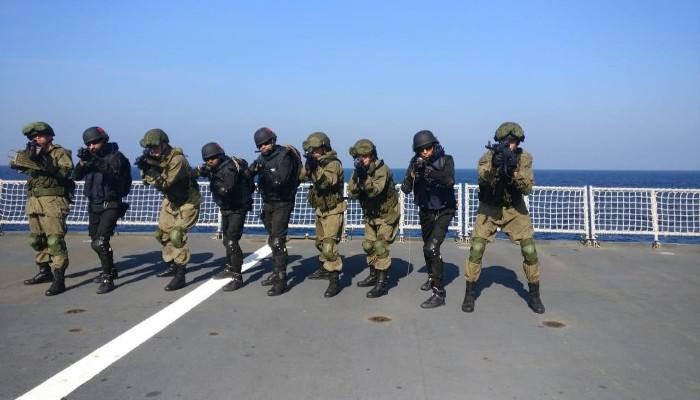 Sea Phase of Indo-Russian Tri-Service Exercise INDRA off Goa