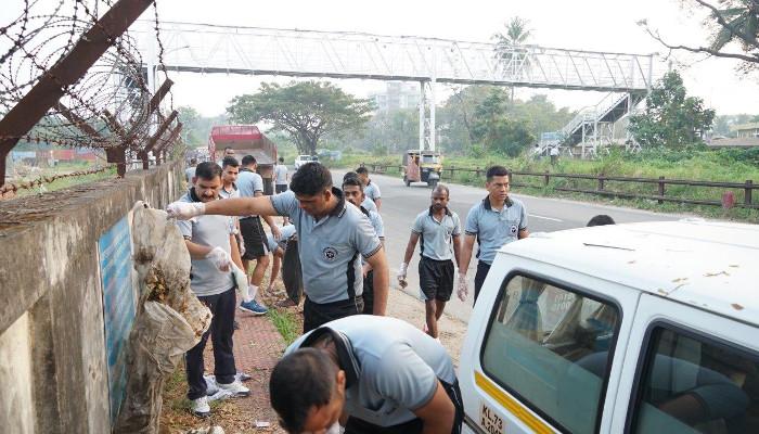 Plogging Drive on Bharat Parv