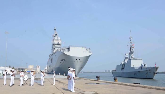 French Naval Ships in Kochi