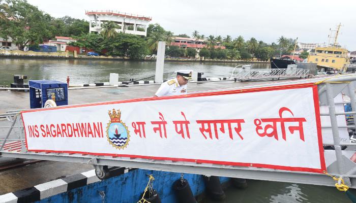 INS Sagardhwani Flagged Off for 'Sagar Maitri'