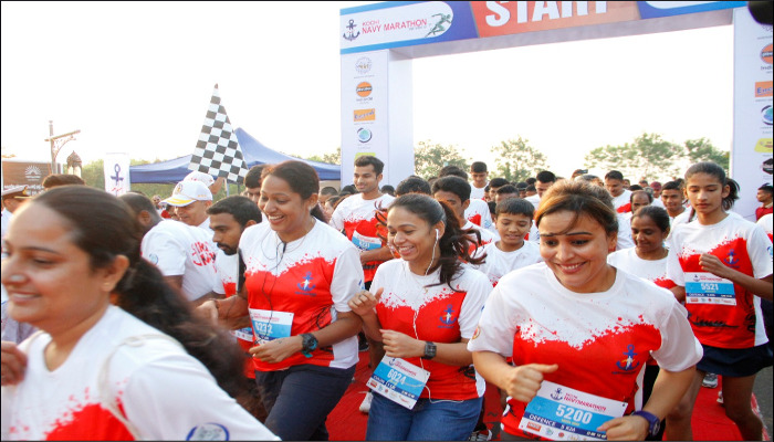 Second Edition of Kochi Navy Marathon Conducted on 25 November 2018