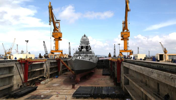 Navy's First Aircraft Carrier Dry Dock Inaugurated by Raksha Mantri at Mumbai