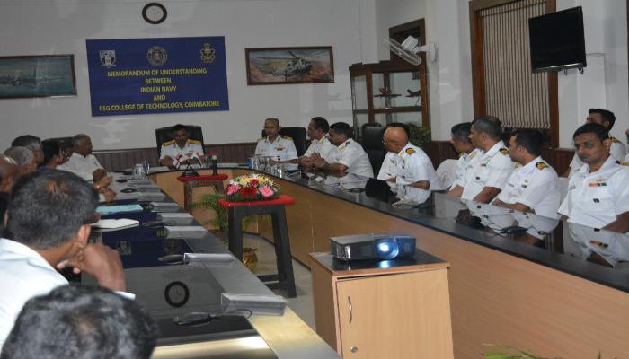 Memorandum of Understanding Signed Between Indian Navy and PSG College of Technology, Coimbatore