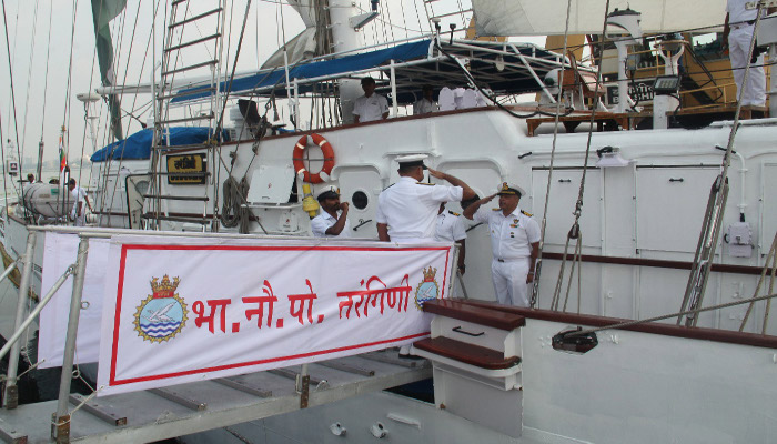 INS Tarangini Returns After Voyage Across the World