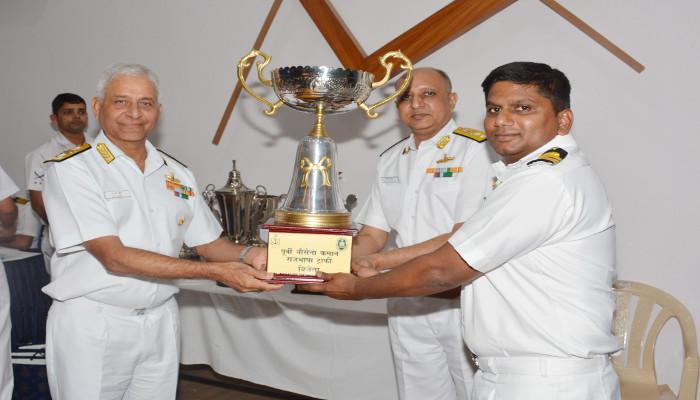 Poorvi Nausena Kaman Rajbhasha Trophies and Best Environment-Friendly Unit Trophies Awarded