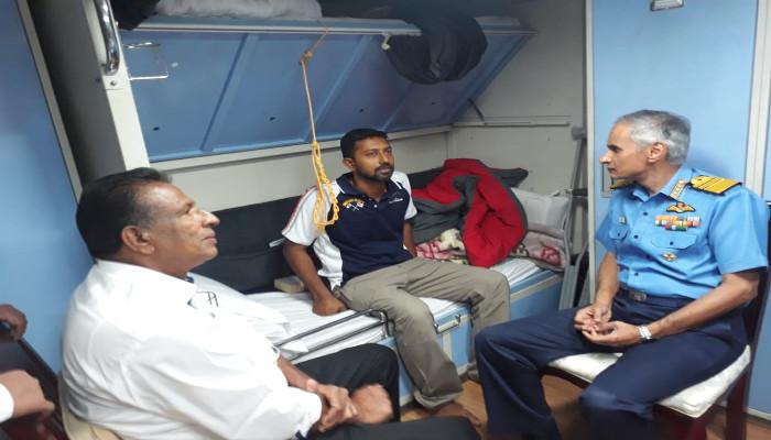 Cdr Abhilash Tomy, KC Reaches Visakhapatnam Safely