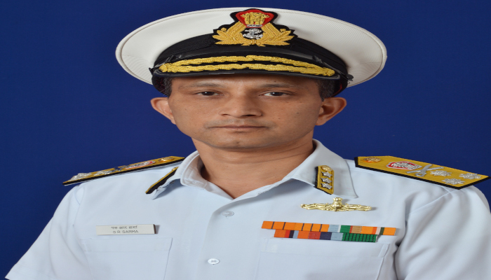 वाइस एडमिरल एस.आर. शर्मा, एवीएसएम, वीएसएम ने भारतीय नौसेना के मटेरियल अध्यक्ष के तौर पर कार्यभार सँभाला