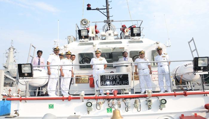 Tug 'Bahadur' Inducted at Naval Ship Repair Yard, Kochi