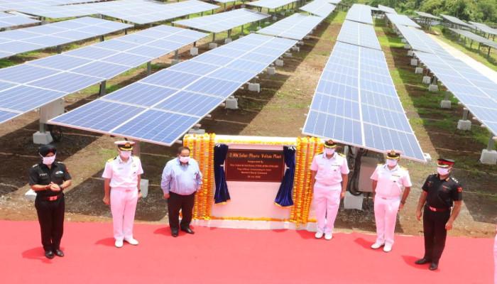 Two Mega Watt Solar Power Plant Inaugurated at Naval Station Karanja, Uran