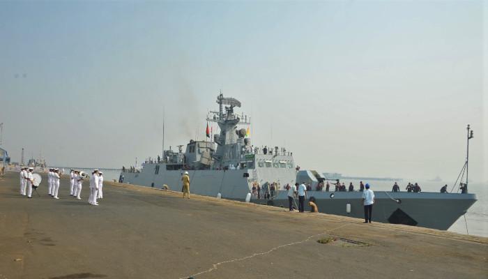 Bangladesh Navy Ship Prottoy Visits Mumbai