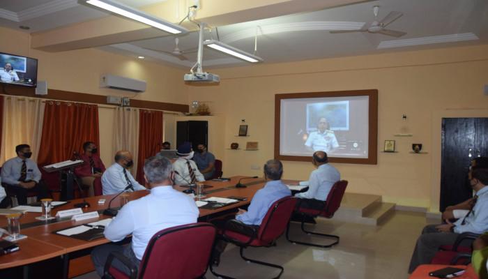 नेवल वॉर कॉलेज, गोवा में 33वें नेवल हायर कमान कोर्स का शुभारंभ