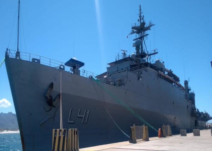 मिशन सागर IV भा नौ पो जलाश्व पोर्ट ऐहोला (मडगास्कर) पहुंचा