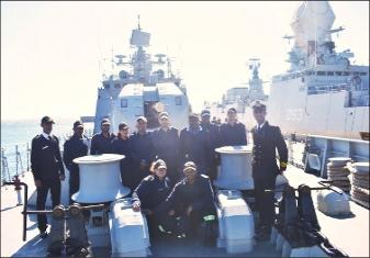 Indian Naval Ships Tarkash and Kolkata Visit Simons Town, South Africa