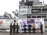 Mission Sagar - Indian Naval Ship Airavat arrives at Jakarta, Indonesia to deliver Medical Supplies