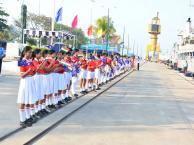 मिलन 2018 - बंदरगाह में प्रवेश स्वागत समारोह