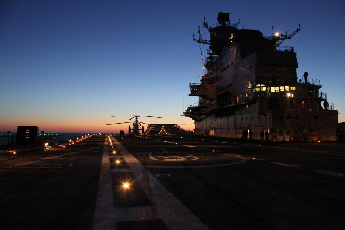 Expansive Flight Deck during night