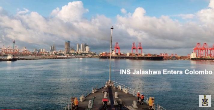 INS Jalashwa at  Tuticorin harbour
